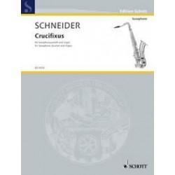 Schneider, Enjott (Norbert J├╝rgen): Crucifixus : f├╝r 4 Saxophone (SATBar) und Orgel Stimmen