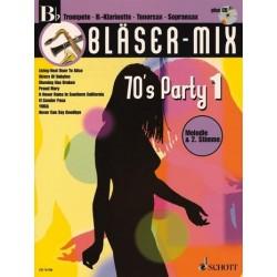 Bläser-Mix (+CD) : 70's Party 1 für B-Instrumente (Melodie und 2. Stimme)