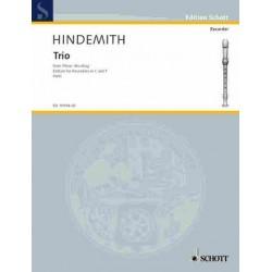 Hindemith, Paul: Trio : f├╝r 3 Blockfl├Âten (SSA) Stimmen