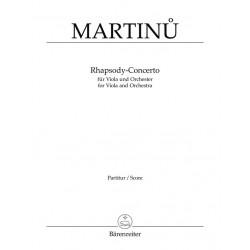Martinu, Bohuslav: Rhapsody-Concerto : für Viola und Orchester Studienpartitur