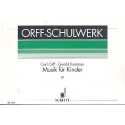 Orff, Carl: Musik f├╝r Kinder Band 4 : Moll, Bordun-Stufen Spielpartitur