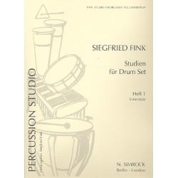 Fink, Siegfried: Studien für Drumset Band 1 : Unterstufe Studien für Schlaginstrumente