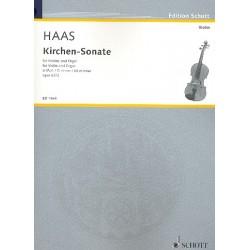 Haas, Joseph: Kirchensonate d-Moll op.62 f├╝r Violine und Orgel