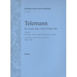 Telemann, Georg Philipp: Ich weiß dass mein Erlöser lebt Kantate Nr.160 BWV160 Partitur