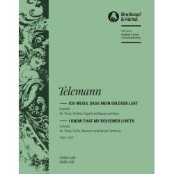 Bach, Johann Sebastian: Ich weiß daß mein Erlöser lebt Kantate Nr.160 BWV160 Violine solo