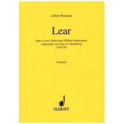 Reimann, Aribert: LEAR : OPER LIBRETTO (DT)