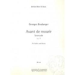 Boulanger, Georges (Gheorghe Pantazi): Avant de mourir op.17 : Serenade für Violine und Klavier