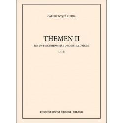 Alsina, Carlos Roque: Themen 2 : per un percussionista e orchestra d'archi partitura