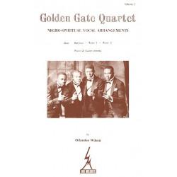 Golden Gate Quartet vol.2 : Negro- spiritual vocal arrangements pour choeur des hommes et piano (+guit chords)