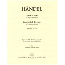 Händel, Georg Friedrich: Konzert B-Dur HWV290 op.4,2 : für Orgel und Orchester Cello/Baß/Fagott