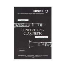 Vlak, Kees (Cornelius) (Llano): Allegro con spirito aus dem Concerto für Klarinette und Blasorchester Partitur und Stimmen