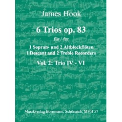 Hook, James: 6 Trios op.83 Band 2 (Nr.4-6) : für 3 Blockflöten (SSA) Spielpartitur