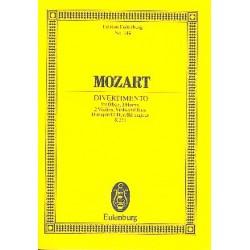 Mozart, Wolfgang Amadeus: Divertimento D-Dur Nr.11 KV251 für Oboe, 2 Hörner und Streichquartett, Studienpartitur