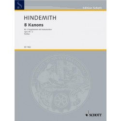 Hindemith, Paul: 8 Kanons op.45,2 : f├╝r 2 Singstimmen mit Instrumenten, Partitur