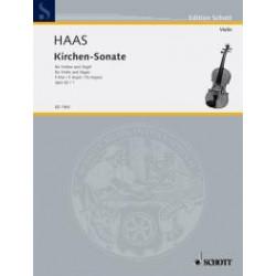 Haas, Joseph: Kirchensonate F-Dur Nr.1 op.62 : f├╝r Violine und Orgel