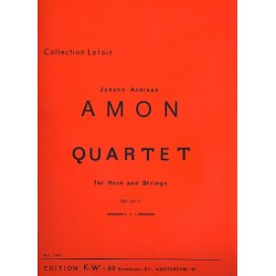 Amon, Johann Andreas: Quartett op.20,1 : für Horn und Streichtrio, Stimmen