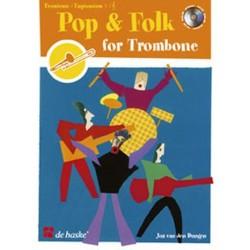 Dungen, Jos van den: Pop and Folk (+CD) : for trombone or euphonium in bass and treble clef (en/fr/dt/it/nl)