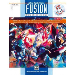 Houghton, Steve: ALFRED MASTER TRACKS FUSION (+CD) : FOR FLUTE, VIBES, OBOE, VL (C TREBLE CLEF) IMPROVISE WITH TODAY'S TOP