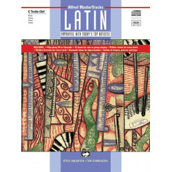 Houghton, Steve: ALFRED MASTER TRACKS LATIN (+CD) : FOR FLUTE, VIBES, OBOE, VL (C TREBLE CLEF) IMPROVISE WITH TODAY'S TOP