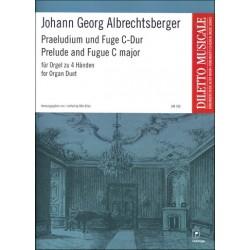 Albrechtsberger, Johann Georg: Präludium und Fuge C-Dur : für Orgel zu 4 Händen