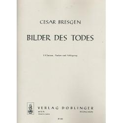 Bresgen, Cesar: Bilder des Todes : f├╝r 2 Klaviere, Pauken und Schlagzeug Partitur und Stimmen