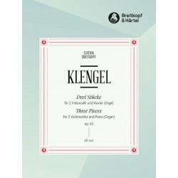 Klengel, Julius (Sohn) *1859: 3 St├╝cke op.62 : f├╝r 2 Violoncelli und Klavier