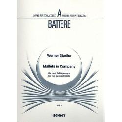 Stadler, Werner: Mallets in Company : f├╝r 2 Schlagzeuger Partitur