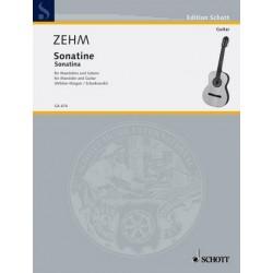 Zehm, Friedrich: Sonatine . für Mandoline und Gitarre Spielpartitur