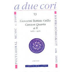 Grillo, Giovanni Battista: CANZON QUARTA A 8 : FUER 2-CHOERIGES