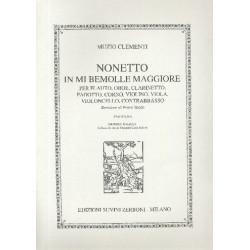 Clementi, Muzio: Nonetto mi bemol maggiore per quintetto a fiati, trio d'archi e contrabbasso, partitura
