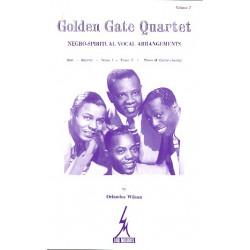 Golden Gate Quartet vol.3 : Negro- spiritual vocal arrangements pour choeur des hommes et piano (+chords)