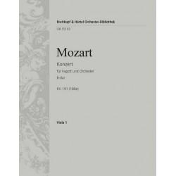 Mozart, Wolfgang Amadeus: Konzert B-Dur KV191 : für Fagott und Orchester Viola