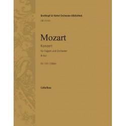 Mozart, Wolfgang Amadeus: Konzert B-Dur KV191 : für Fagott und Orchester Cello/Baß
