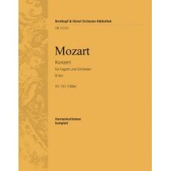 Mozart, Wolfgang Amadeus: Konzert B-Dur KV191 : für Fagott und Orchester Neuausgabe 2006 Harmoniestimmen