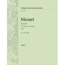 Mozart, Wolfgang Amadeus: Konzert B-Dur KV191 : für Fagott und Orchester Violine 1