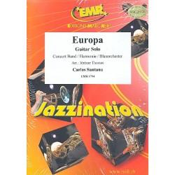 Santana, Carlos: EUROPA : FUER GITARRE SOLO UND BLASORCHESTER THOMAS, JEROME, ARR.