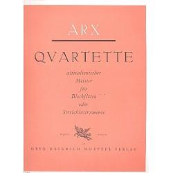 Quartette altitalienischer Meister für 4 Blockflöten (SSA(T)T) Partitur und Stimmen