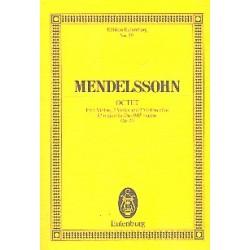 Mendelssohn-Bartholdy, Felix: Oktett Es-Dur op.20 : für 4 Violinen, 2 Violen und 2 Violoncelli Studienpartitur