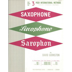 Gornston, David: Method for Saxophone vol.3 (fr/en/dt)