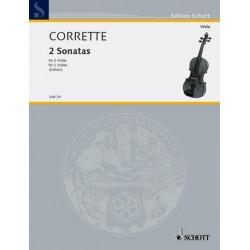 Corrette, Michel: 2 Sonaten und ein Menuett : für 2 Violen Spielpartitur