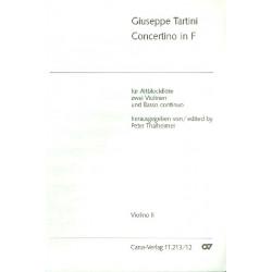 Tartini, Giuseppe: Concertino F-Dur : für Altblockflöte, 2 Violinen und bc Violine 1