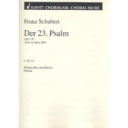 Schubert, Franz: DER 23. PSALM OP.132 : FUER MAENNERCHOR UND KLAVIER PARTITUR