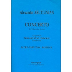 Arutjunjan, Alexander: Concerto : for tuba and wind orchestra study score