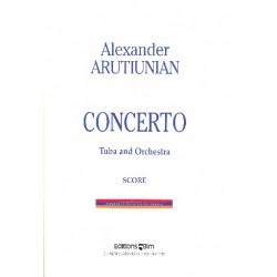 Arutjunjan, Alexander: Concerto : for tuba and orchestra score