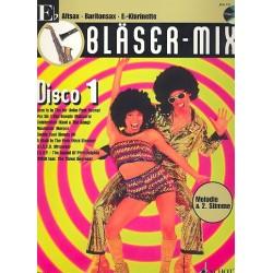 Bläser-Mix (+CD) : Disco 1 für Es-Instrumente (Melodie und 2. Stimme)