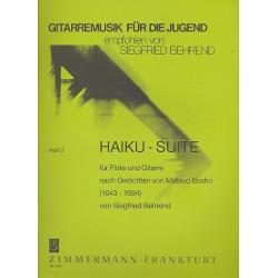 Behrend, Siegfried: Haiku-Suite : f├╝r Fl├Âte und Gitarre