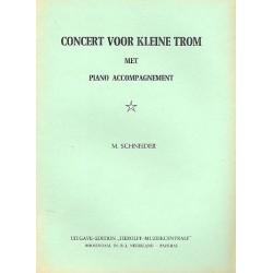 Schneider, Martin: Concert voor kleine trom met piano accompagnement