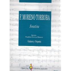 Moreno Torroba, Federico: Sonatina : para guitarra y orquestra partitura