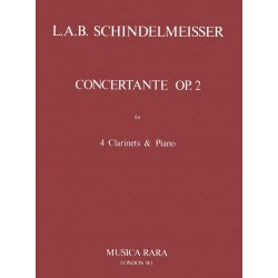 Schindelmeisser, L.A.B.: Concertante op.2 : for 4 clarinets and piano