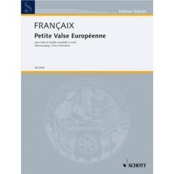 Francaix, Jean: PETITE VALSE EUROPEENNE FUER TUBA UND DOPPELTES BLAESERQUINTETT FUER TUBA UND KLAVIER